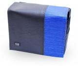 Kunstleder Deckel schwarz blau